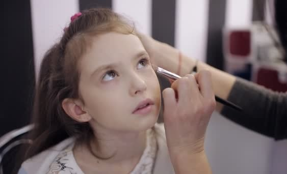 Little girl first makeup